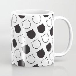Polka Cat - Black Coffee Mug