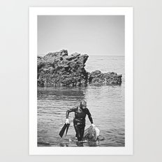 Real Woman Diver, Jeju Island Art Print