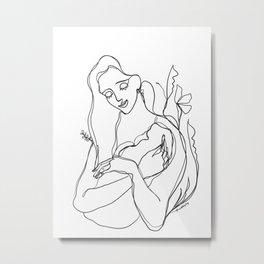 Mother Muse Metal Print