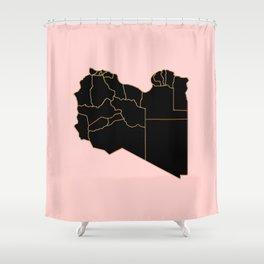 Libya map Shower Curtain