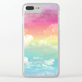 Clouds in a Rainbow Unicorn Sky Clear iPhone Case