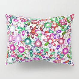 Vivid floral pattern 4181A Pillow Sham