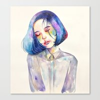 meditation Canvas Prints featuring Meditation by Kazel