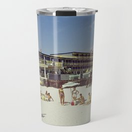 1960's beach picture from the Admiral Motel in Wildwood, New Jersey Travel Mug
