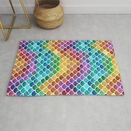 Vibrant Rainbow Scales Rug