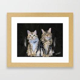 Marble Meows Framed Art Print