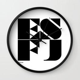 Type Type for ESFJ Wall Clock