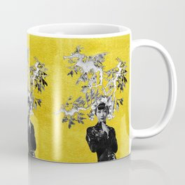 Dragon-fish Lady #1 - on gold Coffee Mug