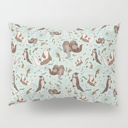 Cute Sea Otters Pillow Sham
