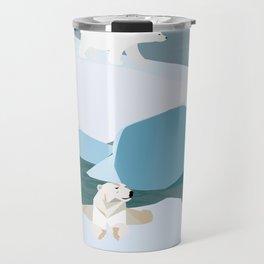A polar bear family Travel Mug