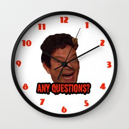 David S. Pumpkins - Any Questions? III Wall Clock