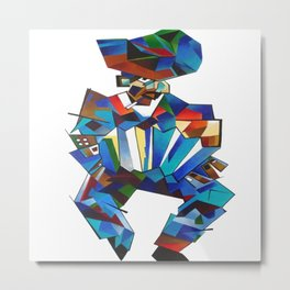 Accordion Player In Cubist Style Metal Print