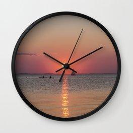 Sailboat Sunset Wall Clock