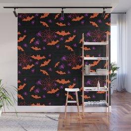 Spider Webs & Bats Wall Mural