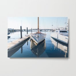 Madeline at the Shipyard Metal Print