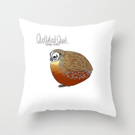 Ocellated Quail Throw Pillow
