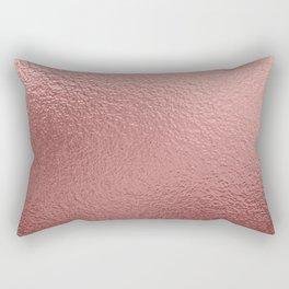 Pure Rose Gold Metal Pink Rectangular Pillow