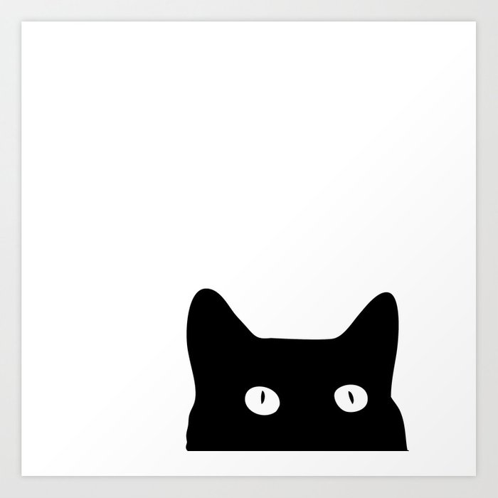 Black Cat Art Print By Goodsense Society6
