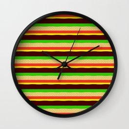 Burger Pattern Wall Clock