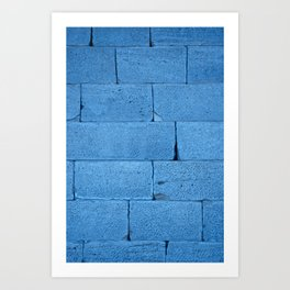 Blue bricks Art Print