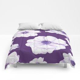 Anemones 2 Purple #society6 #buyart Comforters