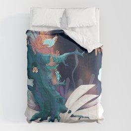 chicken in wonderland Comforters