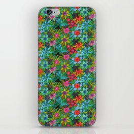 Pattern kitties and flowers iPhone Skin