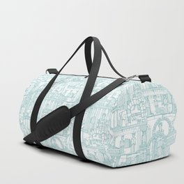 Ancient Greece teal white Duffle Bag