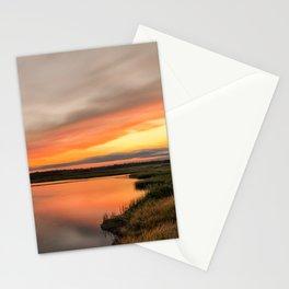 Sunset Over Woodland Marsh Rural / Coastal Nature Landscape Photograph Stationery Cards