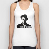 tom waits Tank Tops featuring Tom Waits Painting by All Surfaces Design