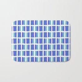 Blue Colored Bubble Gum Pattern Bath Mat