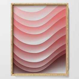Pink waves Serving Tray