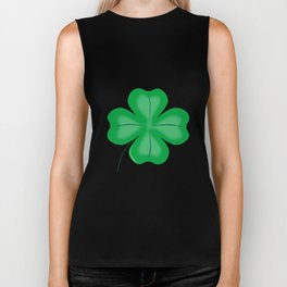 Lucky Four Leaf Shamrock Biker Tank