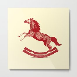Rocking Horse Metal Print