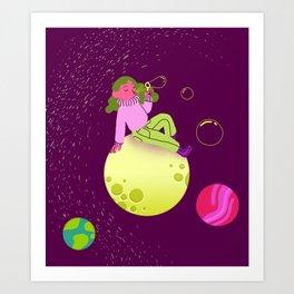 Bubbles in Space Art Print