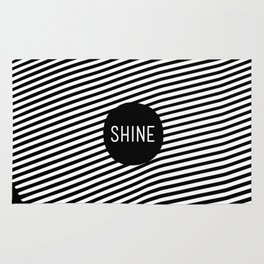 Black and White Stripes (Customizable Label) Rug