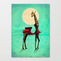 giraffe Canvas Prints featuring Giraffe by Ali GULEC