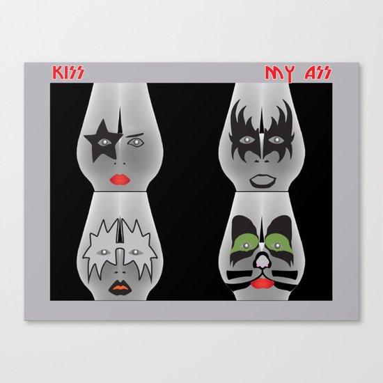 Kiss My Ass Canvas Print