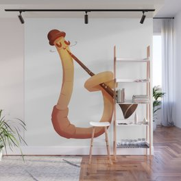 Earthworm with skills Wall Mural