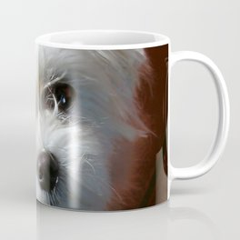 Cute Maltese asking for a treat Coffee Mug