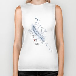 Otisco Live Love Lake Biker Tank