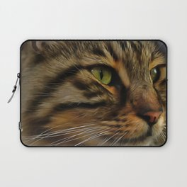 Aslan The Long Haired Tabby Cat Laptop Sleeve