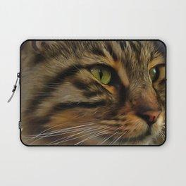Aslan The Long Haired Tabby Cat Laptop Sleeve