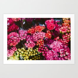 Flower Market in Hong Kong Art Print