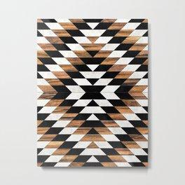 Urban Tribal Pattern No.13 - Aztec - Concrete and Wood Metal Print