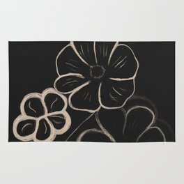 Light Sepia Flowers #1 #drawing #decor #art #society6 Rug