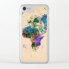 map Clear iPhone Case