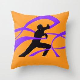 Silver Fang Throw Pillow