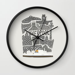 Liverpool Cityscape Wall Clock