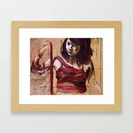 Stories on Flesh Framed Art Print